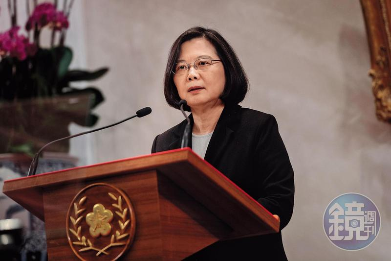 韓國瑜批蔡英文總統(圖),不要九二共識,乾脆獨立,不要裝腔作勢。(總統府提供)