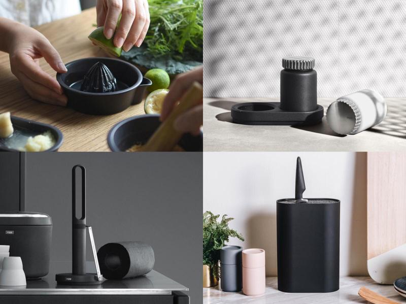 簡約大方的黑色系廚具增加了廚房質感。