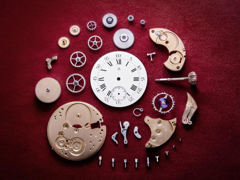 發表於1894年的歐米茄19令機芯的分解圖。這枚機芯不僅改變了品牌的歷史,也改變了瑞士製錶業的生態,朝向工業化的方向邁進,讓機芯更容易組裝與維修。