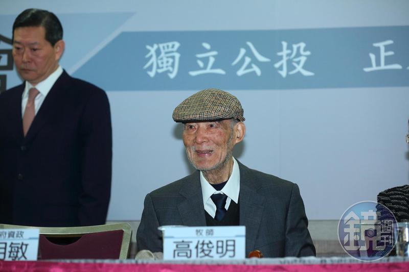 著名長老教會牧師高俊明今(14日)辭世,享年90歲。