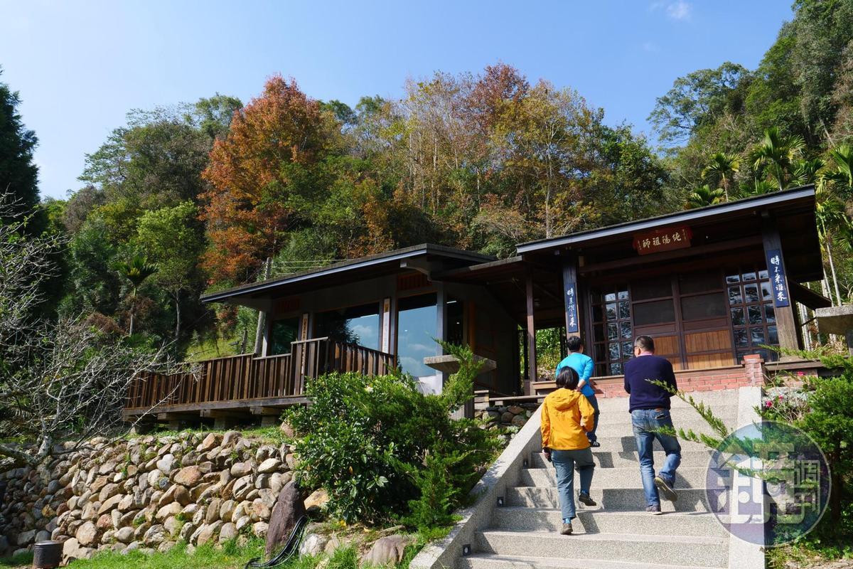民宿後方便是日本神社原址。