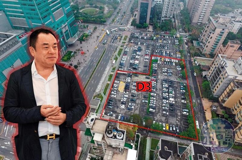 D3土地(紅框處)位在台北101大樓正對面,占地1,500坪,因幸福人壽掏空案淪為法拍地,市值超過百億元,開發利益龐大。也引來李世聰關注。