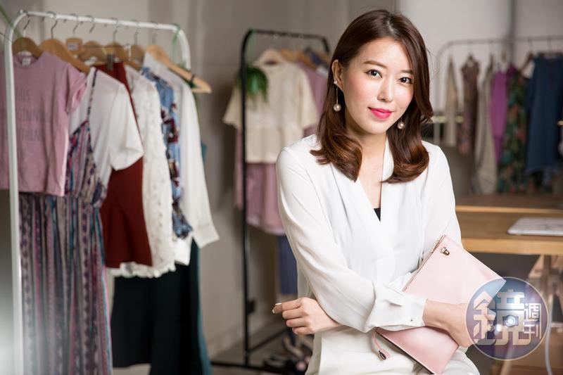周品均於2016年創辦網購韓貨女裝品牌,初估明年營業額將破億元。