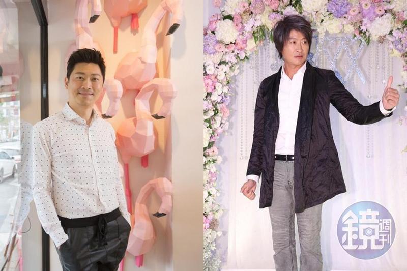 主持人侯昌明(左)和歌手游鴻明(右)因為名字都有「明」,外型也有幾分相似,導致常常被認錯。(本刊資料照)