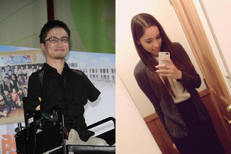 乙武洋匡傳出將再婚23歲混血女大生,女方遭起底是岩澤直美。(左圖東方IC、右圖擷取自岩澤直美推特)