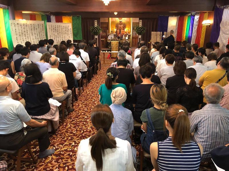 位於東京都府中市的慈惠院,舉行動物葬禮已有百年歷史,圖為盂蘭盆節為往生動物舉行聯合法會的情況。(翻攝自慈惠院臉書)