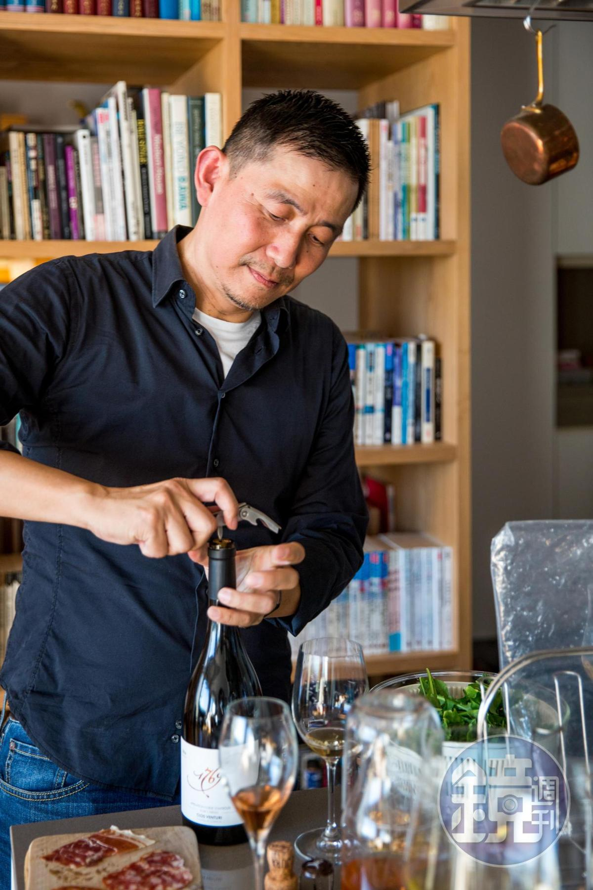 林裕森主張簡單平實的葡萄酒,是日常食物的良伴。