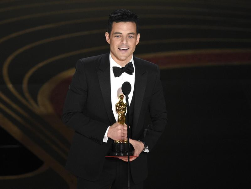 雷米馬利克以《波希米亞狂想曲》拿下奧斯卡最佳男主角,成為12年以來,第一位非白人的影帝。(東方IC)