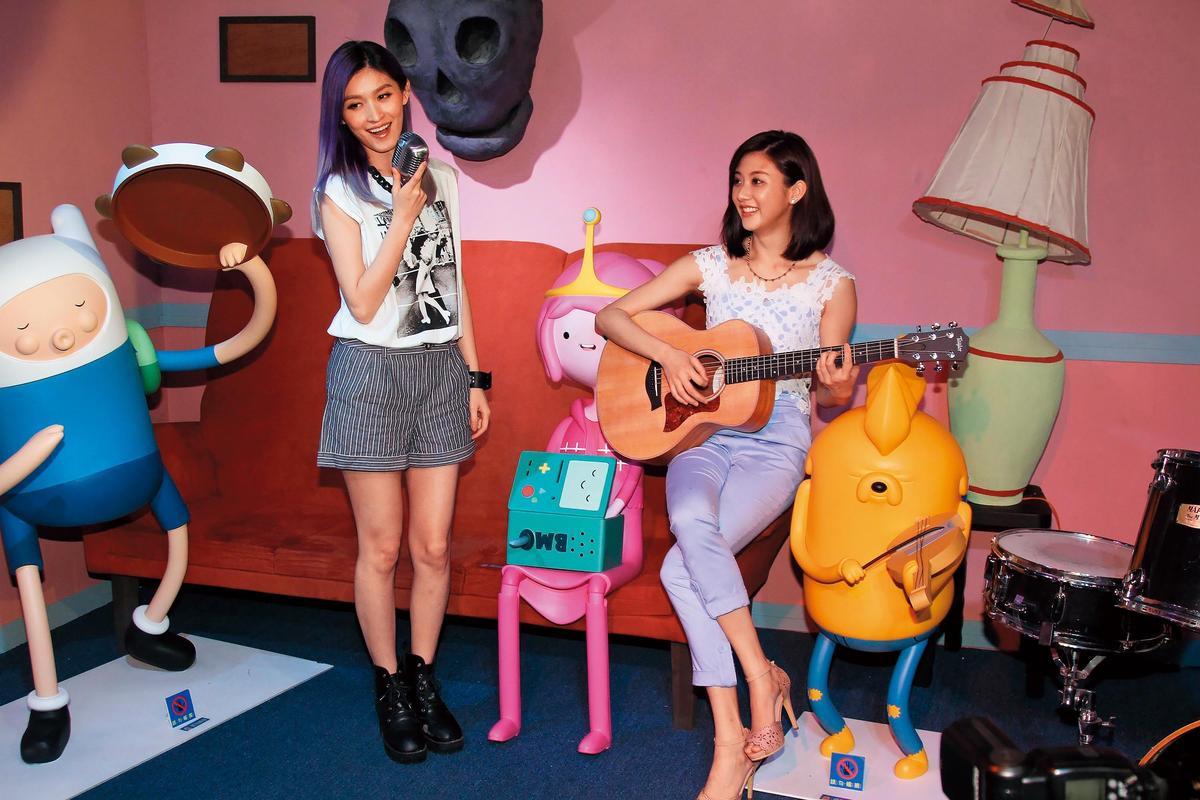 管罄(左)曾加盟喜歡音樂、與林逸欣(右)是同門師姐妹,僅出過一張個人專輯,之後爆出不倫戀即解約收場。(東方IC)