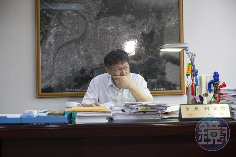 柯文哲談到韓國瑜參選後形成韓流,只花50天網路聲量就超越自己,他還形容現在已變為「極端政治」。(圖為資料照)