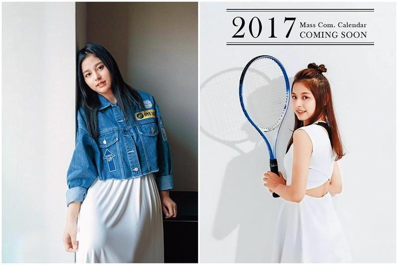有「輔大周子瑜」稱號的陳苡瑄,因為參與2017年輔大美女月曆拍攝受到矚目,而踏入演藝圈。(右圖輔大提供)