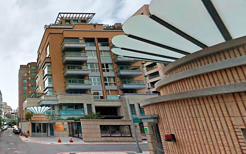 蔡依林砸上億元買下瑞安懷石豪宅,頂樓可看到101大樓,另一面則是大安森林公園。 (翻攝自Google Maps)