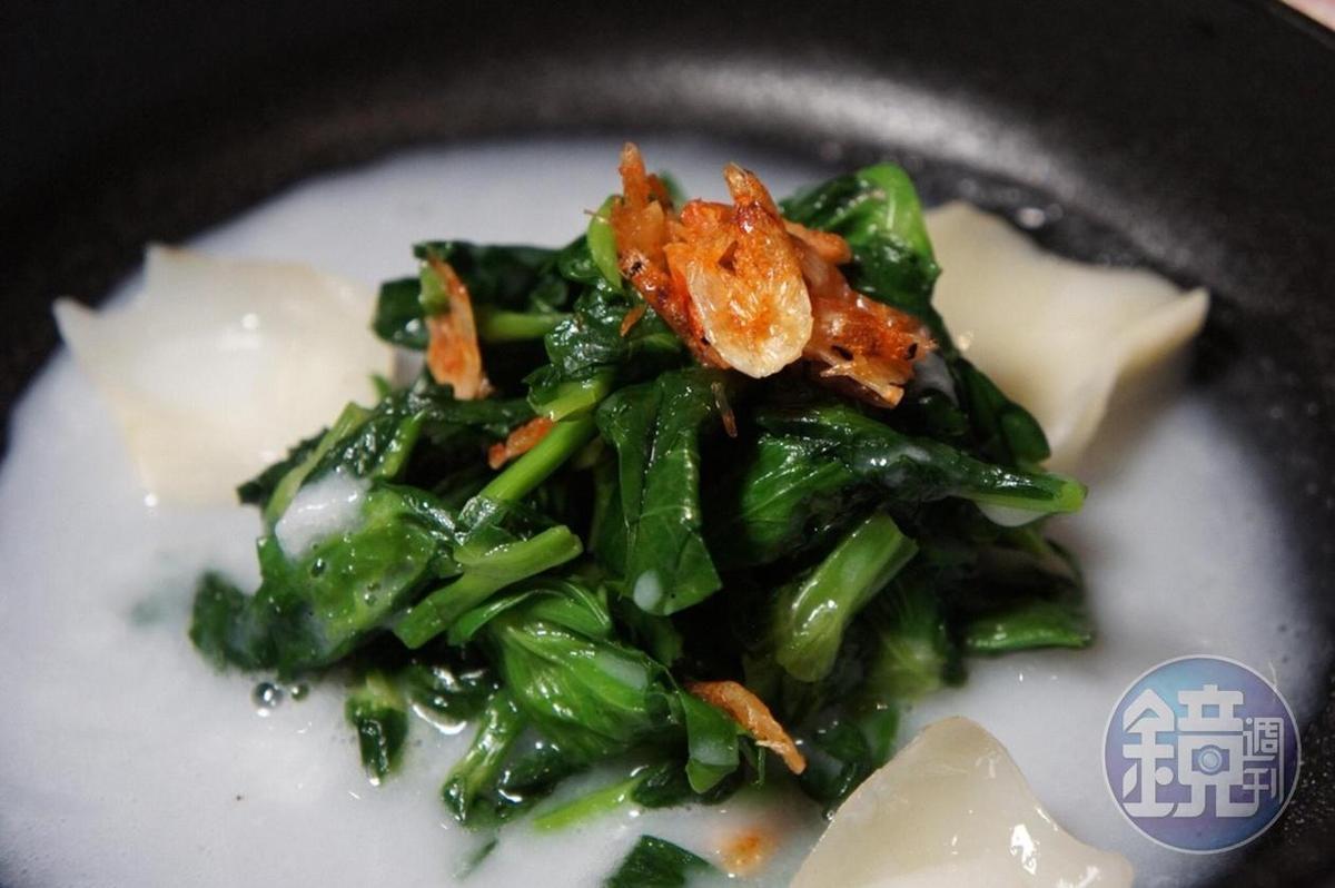 「米皇襯鮮蔬」淋上台東池上米米漿,濃滑可口。
