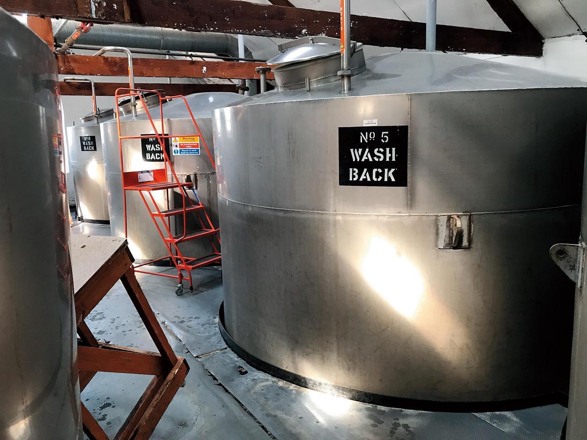 酒廠目前有8個不鏽鋼發酵槽,每個容量22,000公升,進行48小時的發酵。