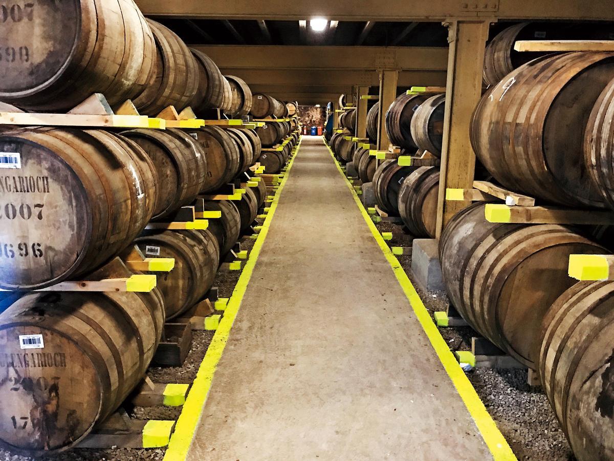 酒窖採傳統鋪地式Dunage擺設,堆疊三層不高且透地氣。