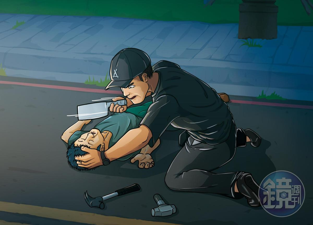 林宗耀用鐵鎚敲昏哥哥,再以菜刀砍斷他脖子大動脈,導致失血過多死亡。