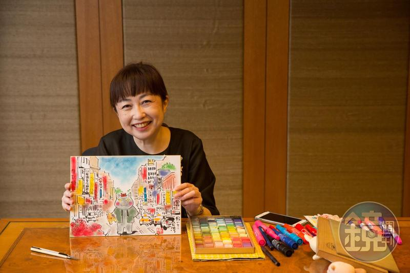 日本暢銷漫畫《夜巡貓》作者深谷薰觀察細膩,抵台隔天就畫下充滿台灣風景的《夜巡貓》。