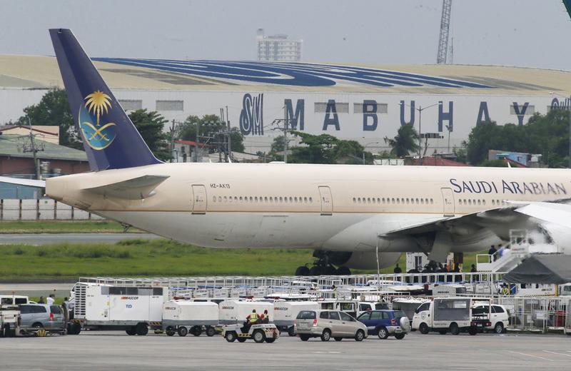 上週末沙烏地阿拉伯航空一架SV832航班,因為一位粗心的媽媽把寶寶忘在機場而緊急折返。圖為示意圖。(東方IC)