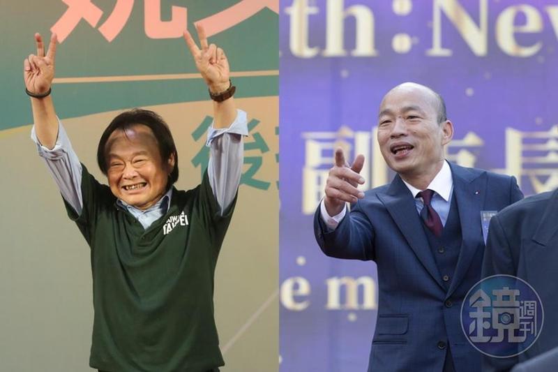 王世堅(左)今(13日)在臉書上PO文,認為國民黨應該派韓國瑜(右)選總統,別再歹戲拖棚。(本刊資料照)