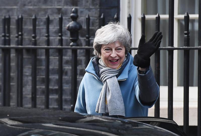 英國國會投票後終於接受延遲脫歐的決定,首相梅伊下週計劃將再次針對《脫歐草案協議》再次進行投票。(東方IC)