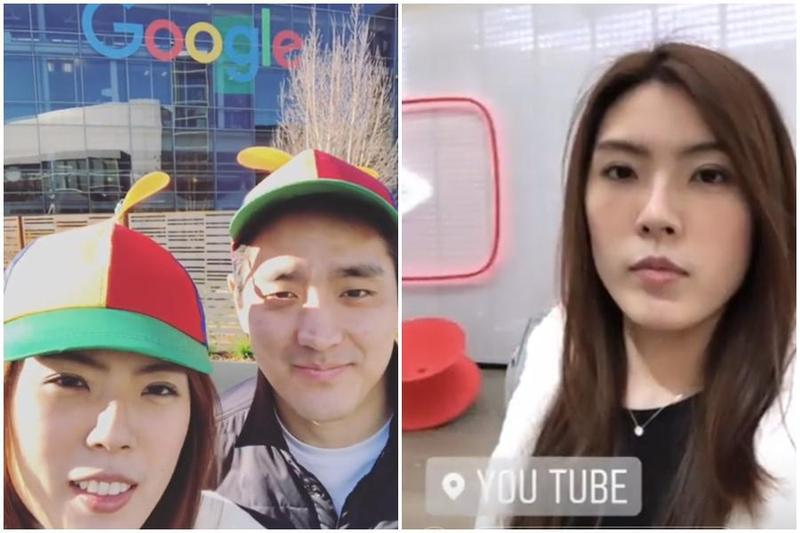 理科太太昨遭約卻談臨時請假,反而在IG放上參觀Google總部的影片。(翻攝自理科太太IG)