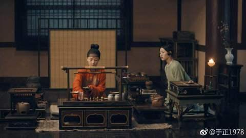 新劇《大唐女兒行》調色師發給于正的影片截圖色調參考照。(翻攝自于正微博)