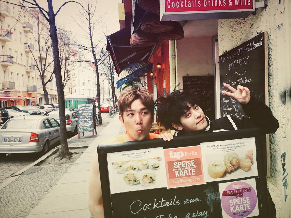 翻查鄭俊英2016年4月7日的IG,他上傳了與SJ成員強仁的合照。(翻攝自鄭俊英IG)