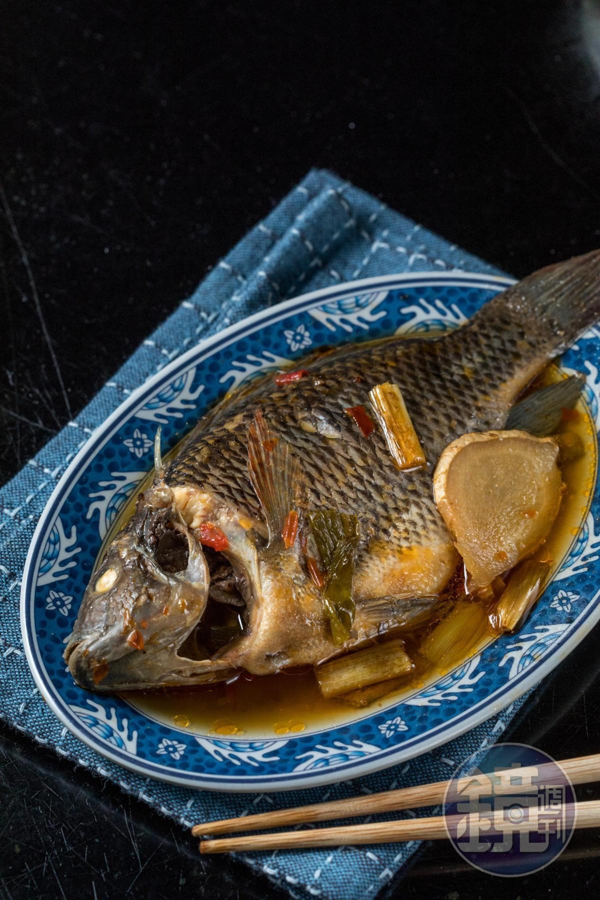 「吳郭魚」有南部口味的豆醬香。(55元/盤)