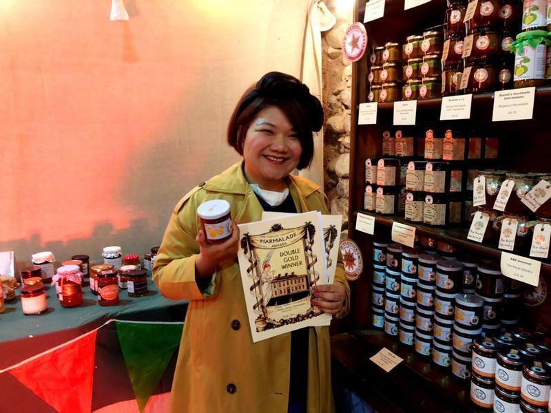 台灣果醬女王柯亞研發「橙花金棗黃檸檬」果醬,昨在英國勇奪雙金牌,台灣水果美味驚豔全球。(柯亞提供)
