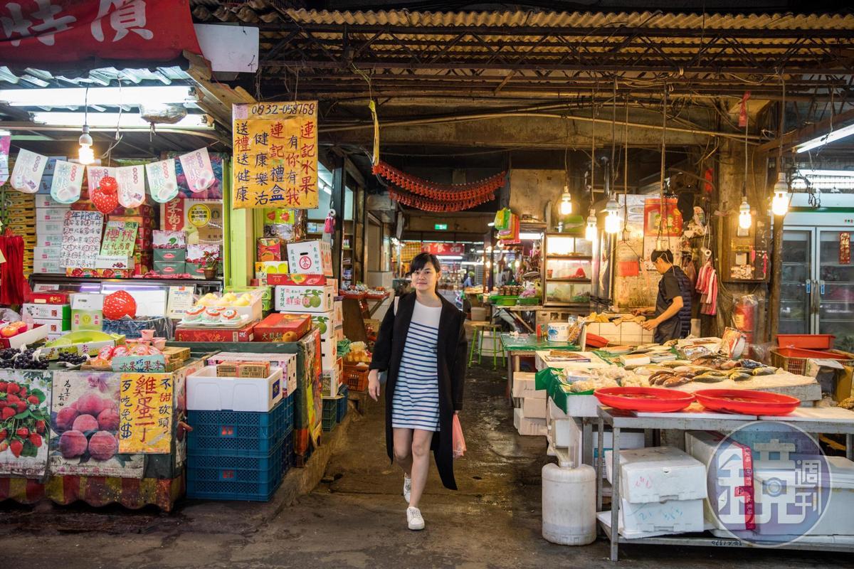 盧怡安最常走逛的市場就是「三重幸福市場」。