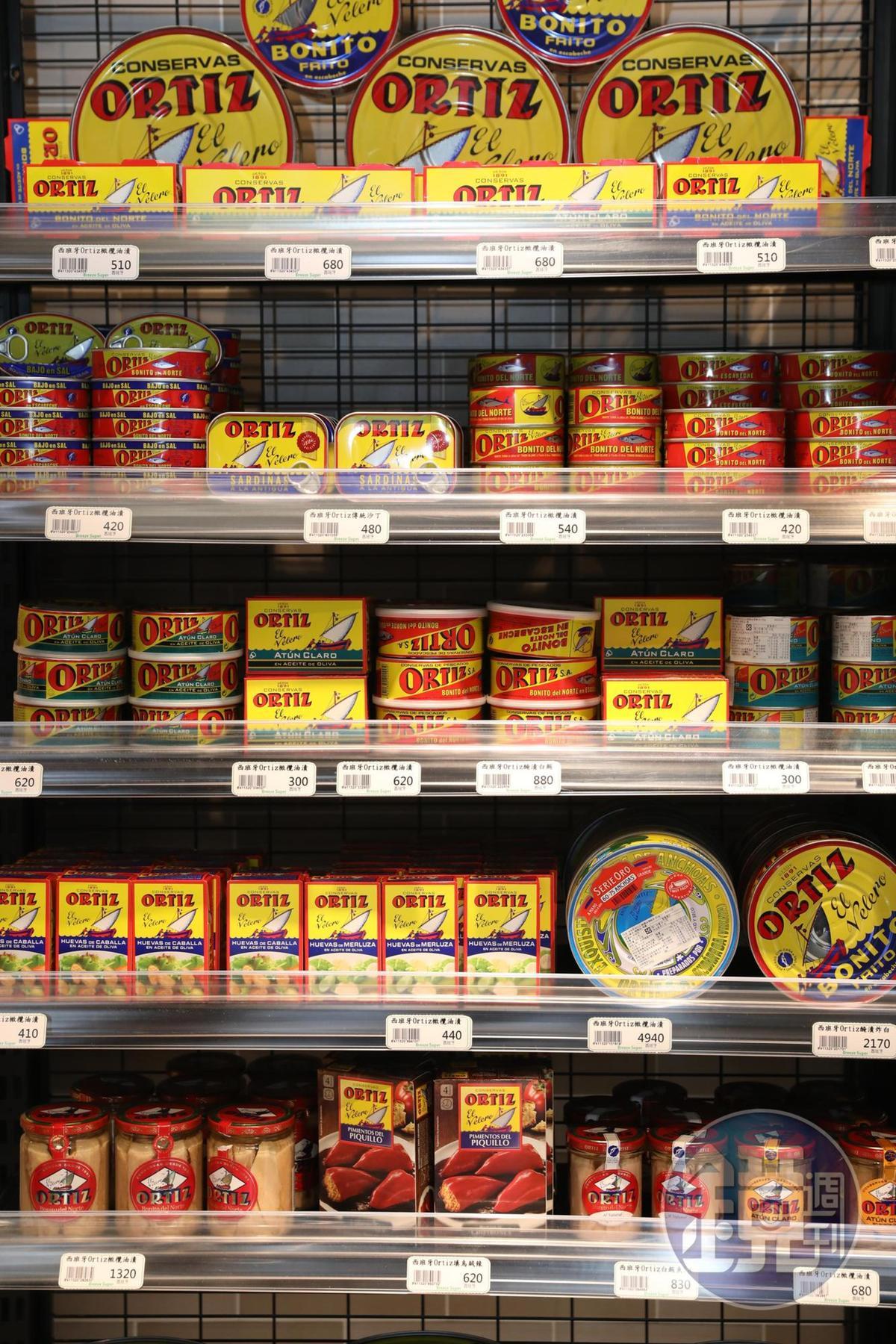 西班牙老牌罐頭「ORITZ」完整口味來報到。(260元~6,380元/罐)