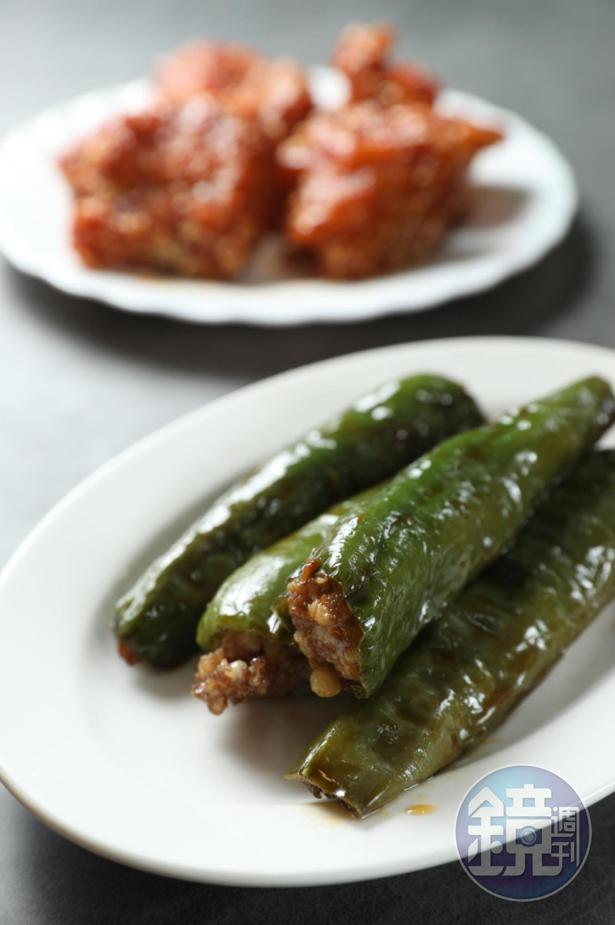 「青椒灌肉」醬香惹味,微辛辣。(480元/斤)
