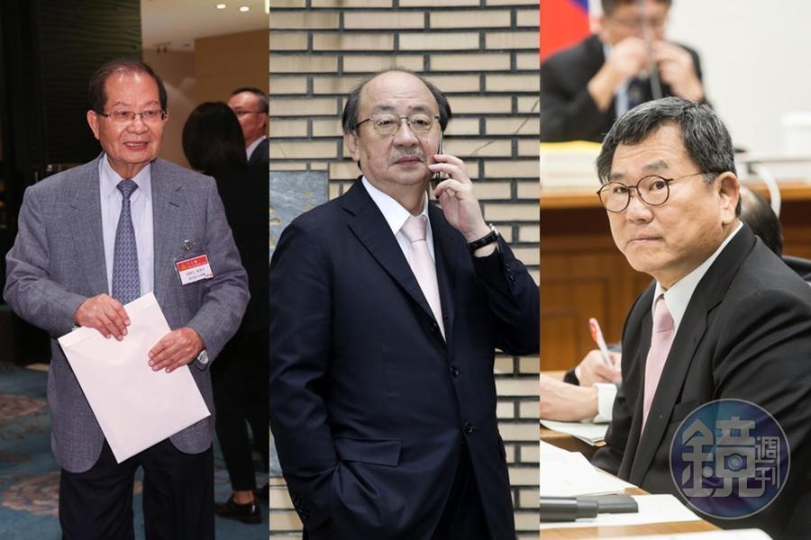 蔡英文今(20日)邀請部分中常委到官邸針對時事議題討論,陳勝宏(左起)、柯建銘、陳明文皆參與會議。