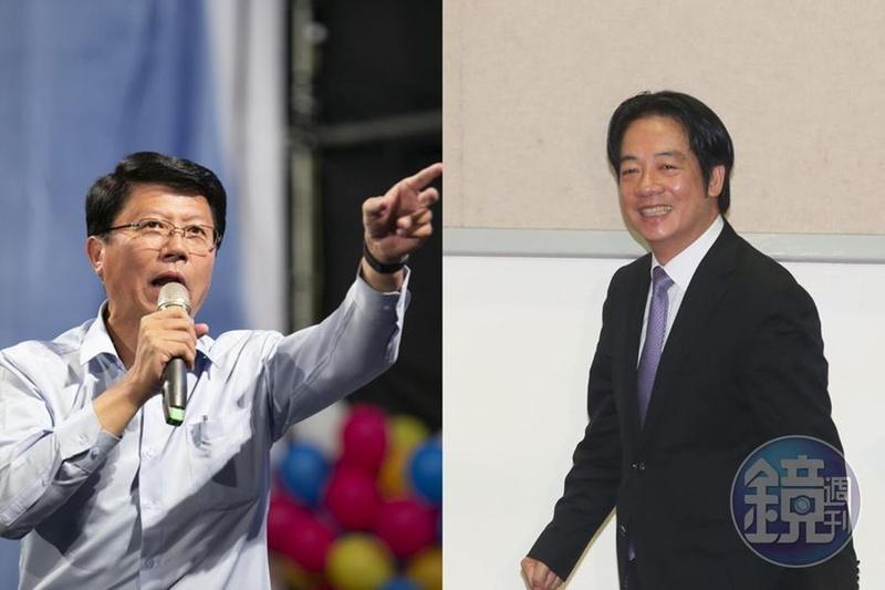 謝龍介(左)直言賴清德(右)最後會接受民進黨的「蔡賴配」徵召。