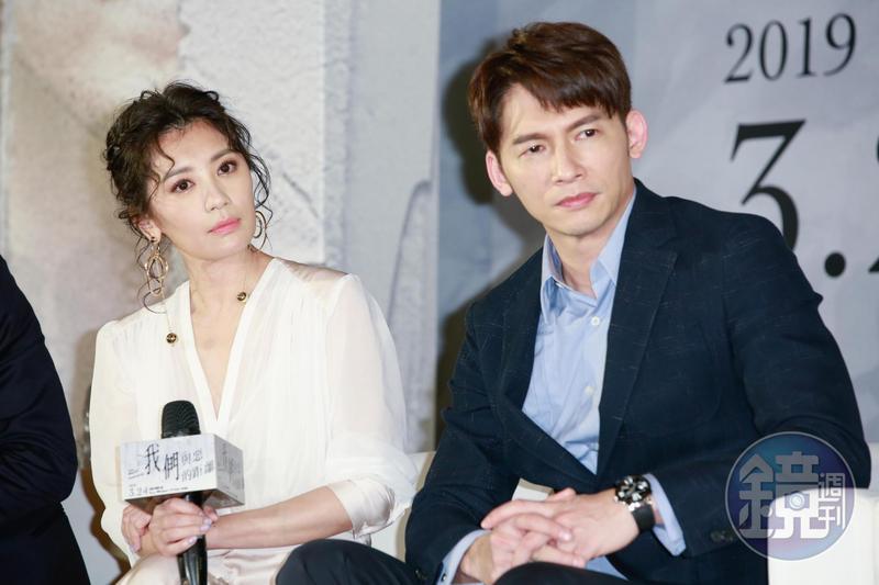 賈靜雯與溫昇豪在戲中飾演頓失愛兒的夫妻,走不出傷痛的兩人一直吵架。