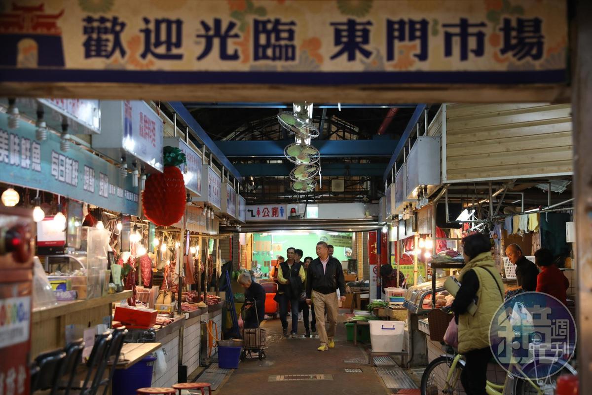曾被喻為「貴族市場」的東門市場。