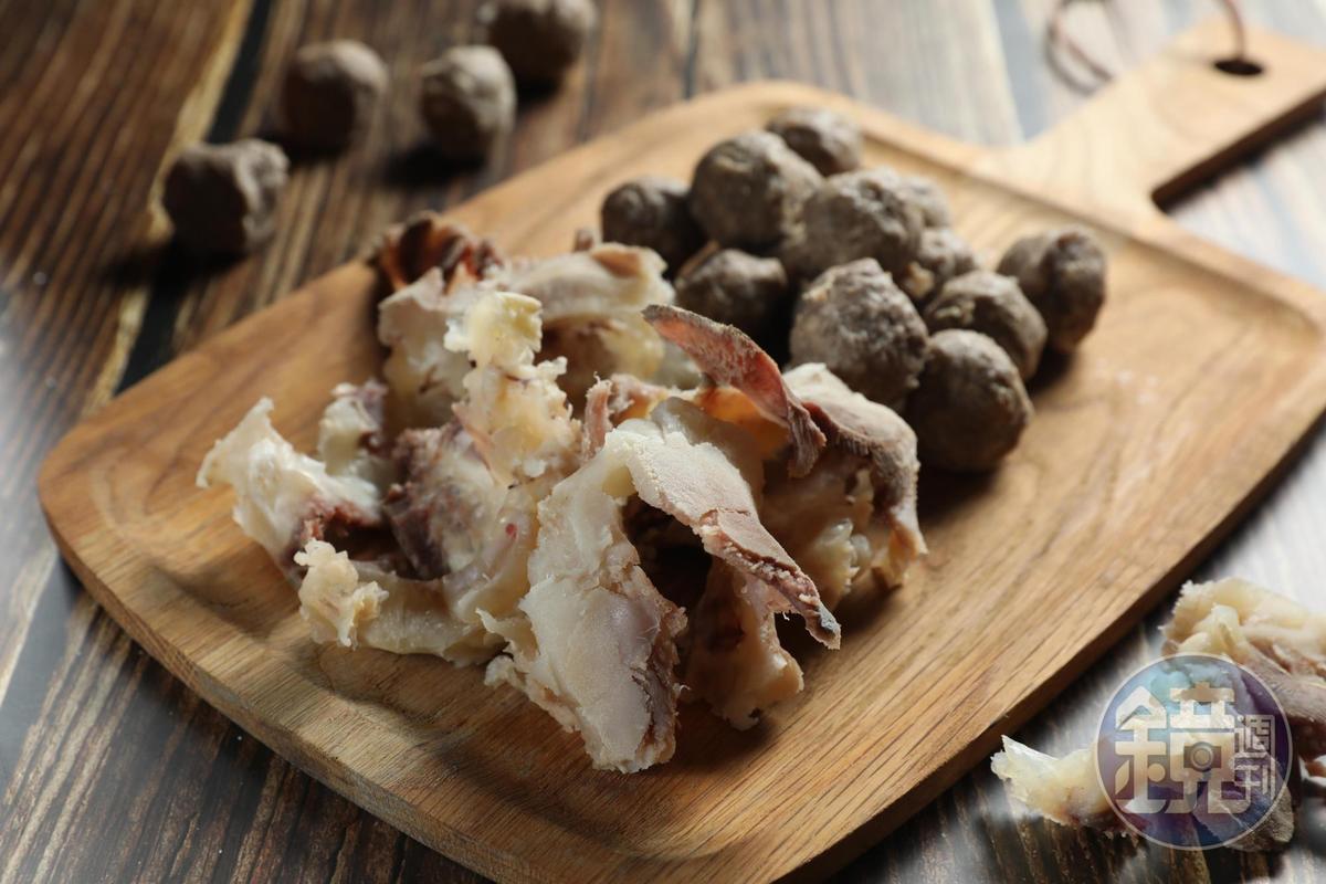 「萬國牛肉」也提供片好燙熟的牛肉丸、牛筋片。