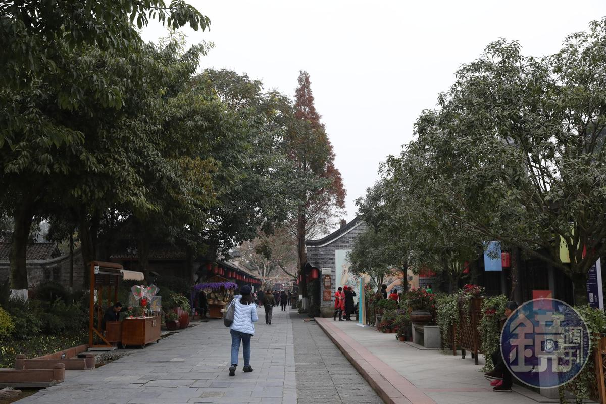 從坝子走進去,就是安仁古鎮的入口。