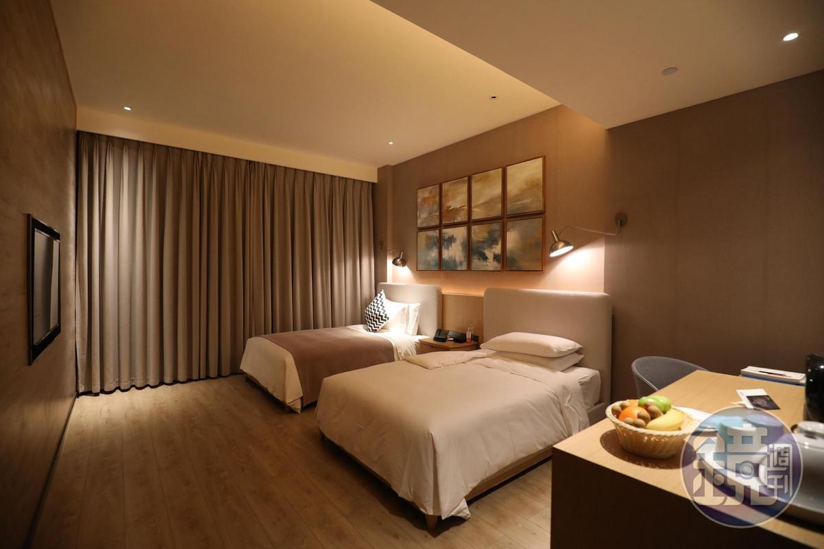 客房溫馨舒適,與大城市的高級酒店沒什麼兩樣。