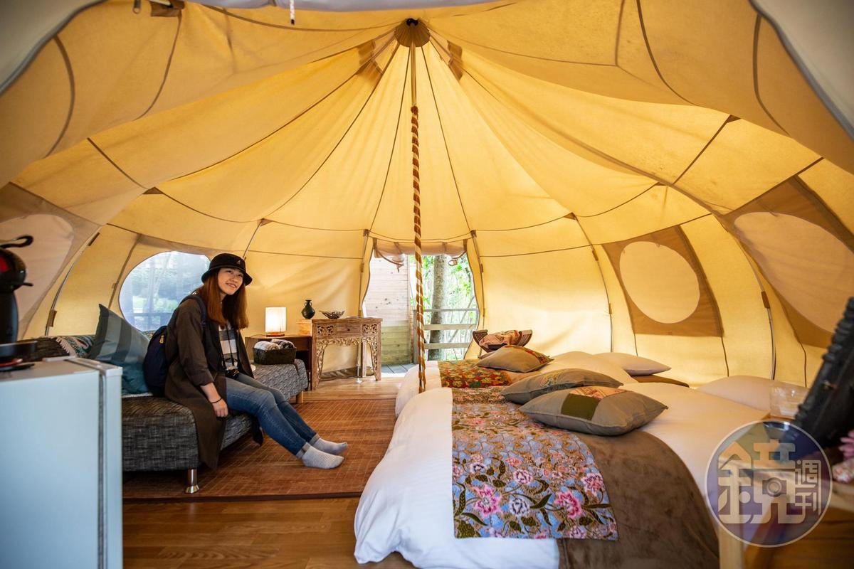 帳篷內設備齊全,入住相當舒適。