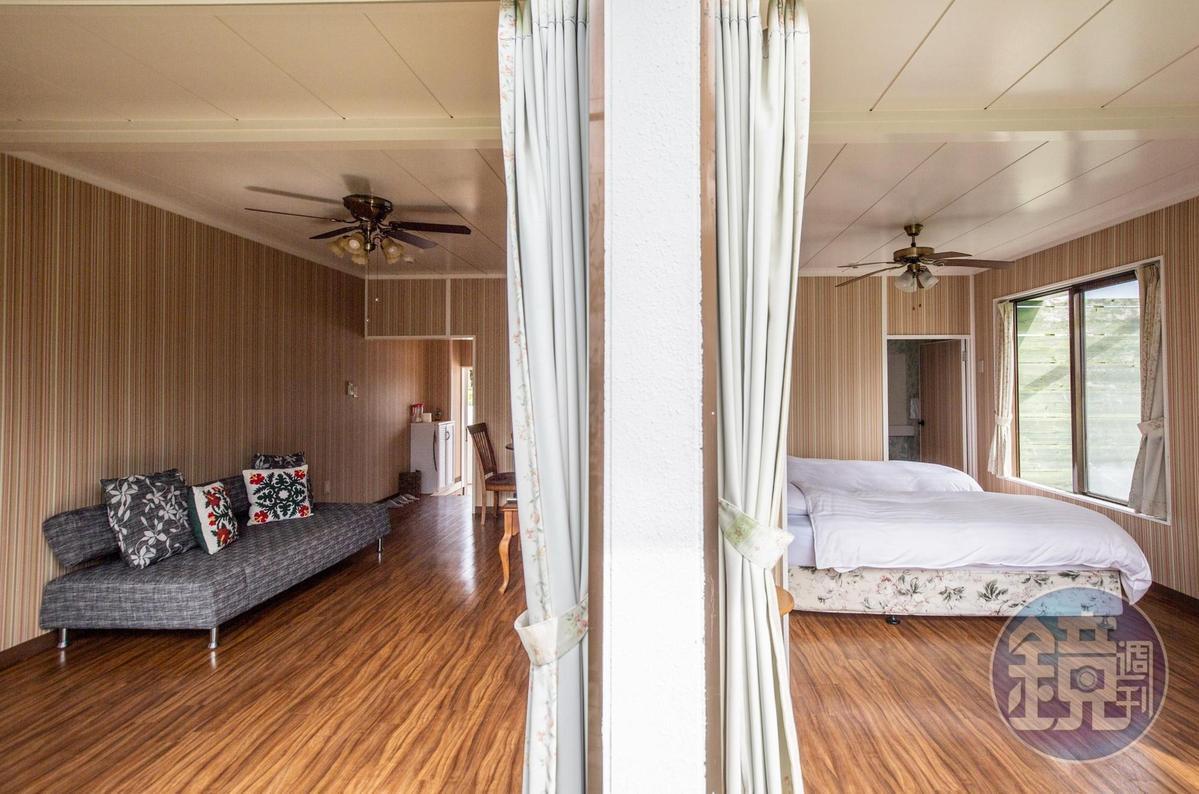 除了帳篷,也提供公寓室套房及客房。