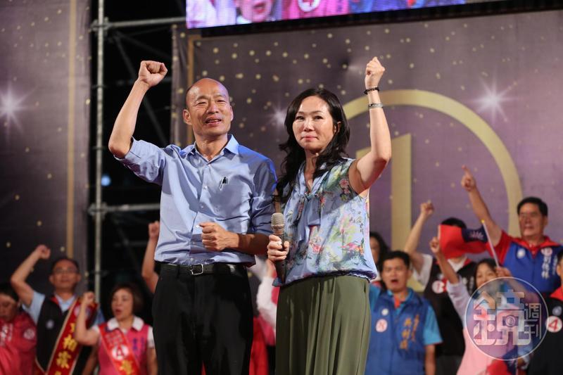 有傳言國民黨要徵召韓國瑜選總統,再由妻子李佳芬選市長一事,韓國瑜昨(26日)表示這種說法是惡劣中傷。(本刊資料照)