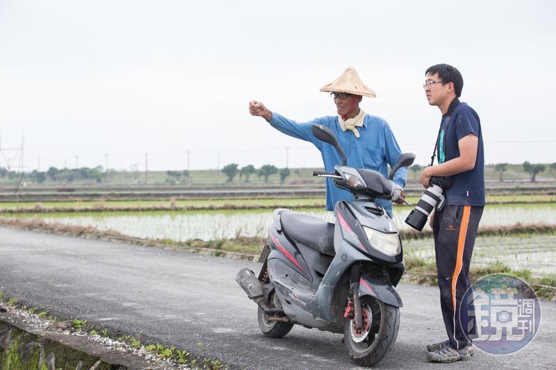 80歲的在地農民阿農伯(左)5年前認識林哲安,看他熱情又老實,也認同有機的理念,願意提供2.3甲的土地一起合作。