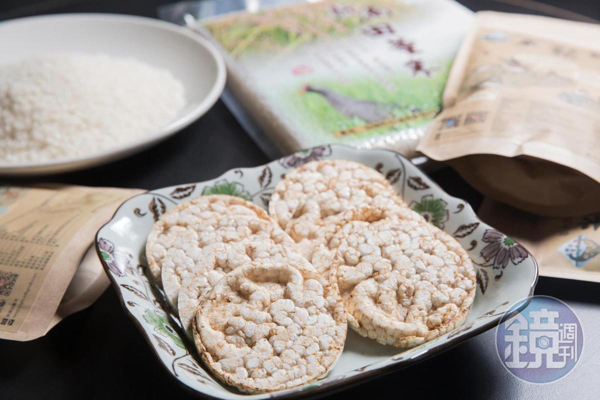 糙米製成的無糖、無油米餅乾,口感鬆脆,入口滿是米的香氣。(一包10片裝/80元)