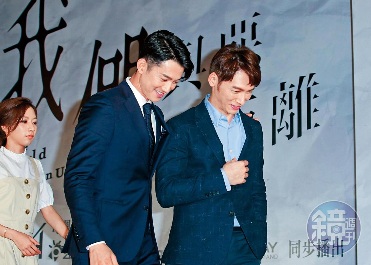 感覺吳慷仁(左)、溫昇豪這對CP也算頗登對,剛好吳慷仁最近發文力挺平權,讓他身上頗有彩虹氣息。