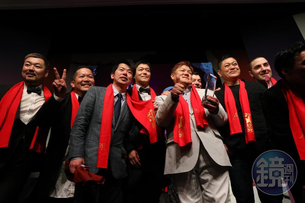日本餐廳入榜高達12間,是今年最大贏家。