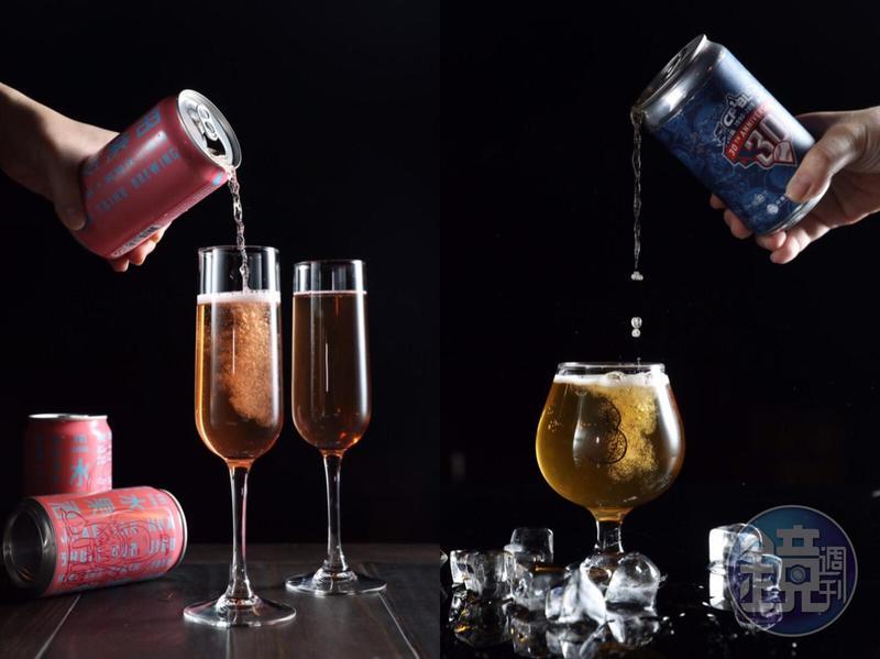 臺虎精釀的罐裝精釀啤酒的口味選擇多,方便帶回家,隨處都能打造啤酒餐酒館。