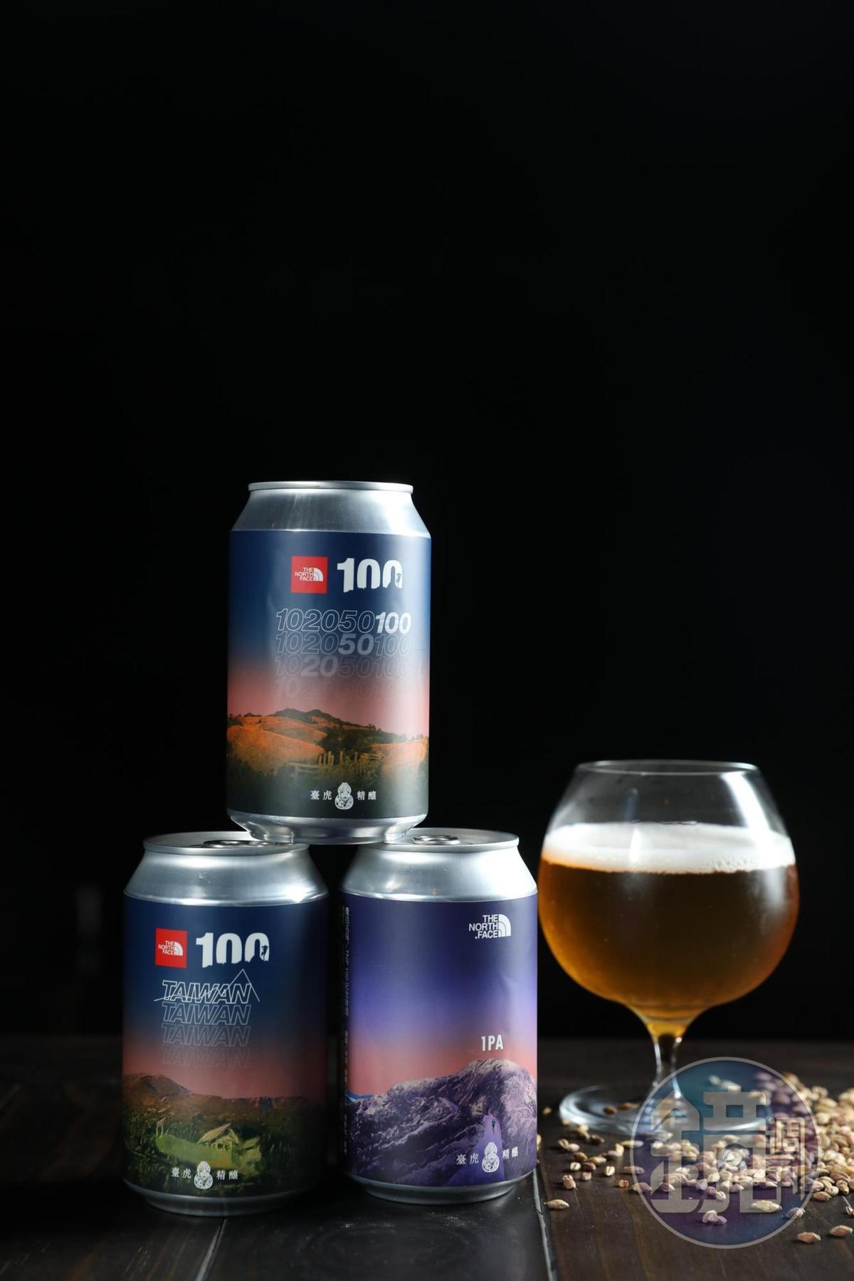 酒精濃度1%的「TNF100紀念啤酒」酒勁小,啤酒花香氣明顯,微酸明亮。(4月19日起於臺虎直營門市開賣,600元/1組4罐;4月21日於TNF100賽事現場販售)