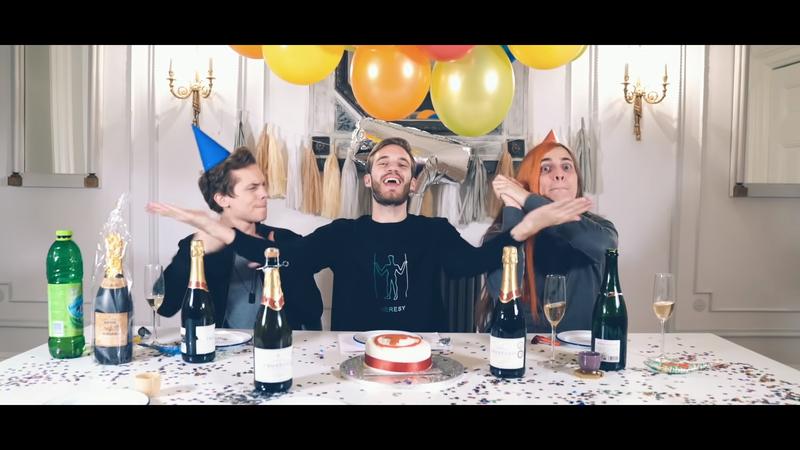PewDiePie 第一時間釋出單曲「恭喜」對手。