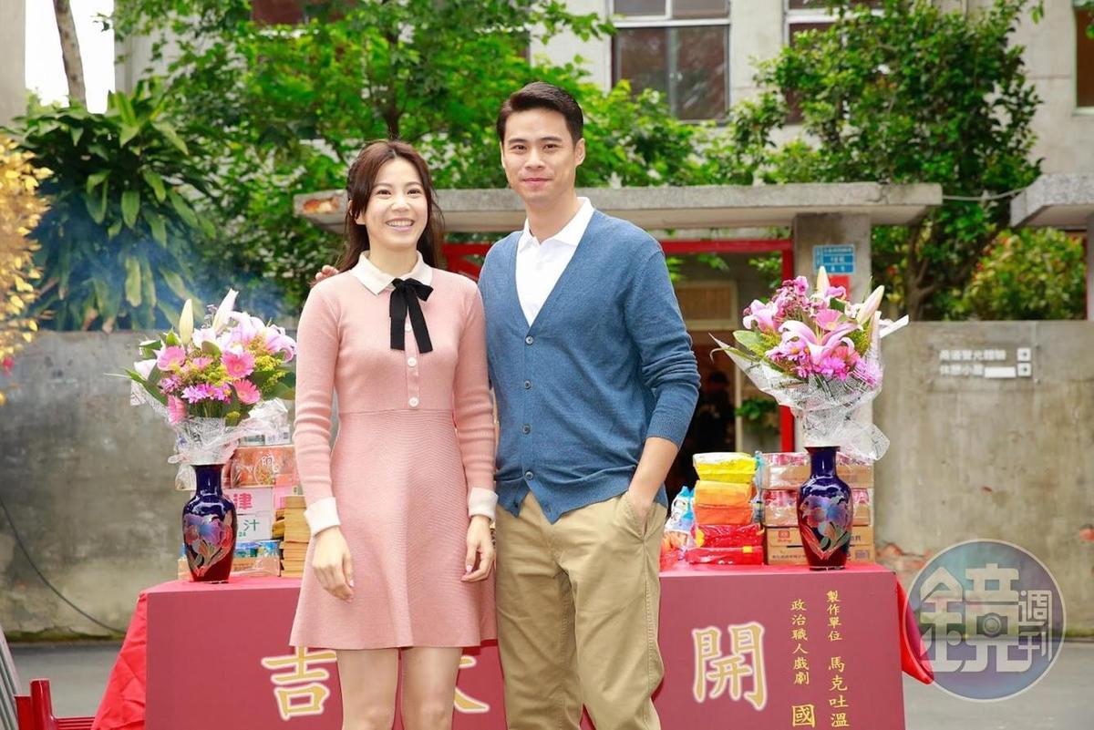 廖苡喬(左)與吳定謙飾演情侶,與導演開了群組經常討論劇本。